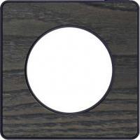 Plaque Odace Touch - Frêne liseré anthracite - 1 poste