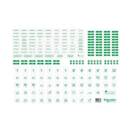 schneider r9h13228 lot de 10 symboles autocollants en. Black Bedroom Furniture Sets. Home Design Ideas
