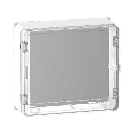 Porte Styl transparente + habillage pour platine Resi9 13 modules