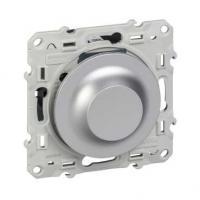 Variateur Odace spécial fluocompacte à variation - 100 W - Aluminium