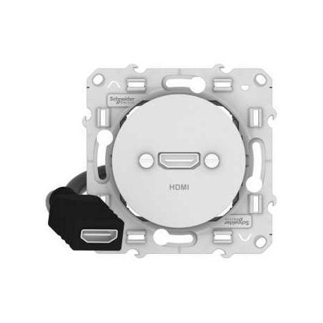 Prise HDMI Odace - Blanc