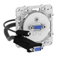 Prise VGA mini-jack Odace - Blanc