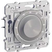 Thermostat électronique 10 A Odace pour plancher chauffant - Aluminium