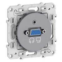 Prise VGA mini-jack Odace - Aluminium
