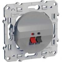 Prise haut-parleurs Odace - 2 sorties (L, R) - Aluminium