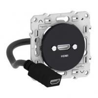 Prise HDMI Odace - Anthracite