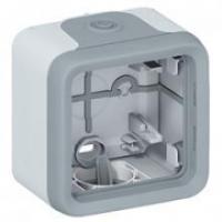 Boîtier Plexo IP 55 pour montage en saillie - 1 poste - Gris