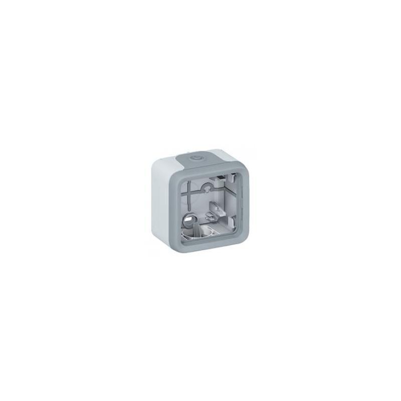 legrand 069651 bo tier plexo ip 55 pour montage en saillie 1 poste gris. Black Bedroom Furniture Sets. Home Design Ideas