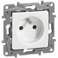 Prise de courant 2P+T Niloé - Bornes auto - Blanc