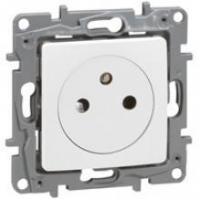Prise de courant 2P+T Surface Niloé - Bornes auto - Blanc