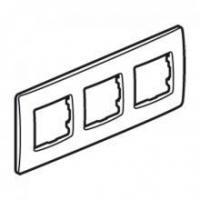 Plaque de finition Niloé 3 postes - Lin - Entraxe 71 mm - Horizontal et vertical