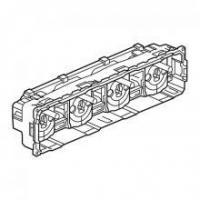 Prise de courant quadruple compacte précâblée 4 x 2P+T Céliane - Bornes auto - A composer