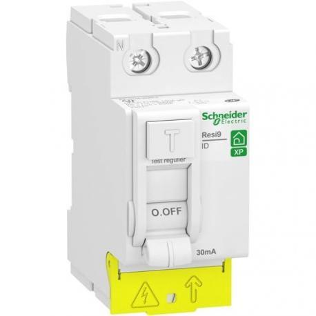 Interrupteur différentiel Resi9 XP - 40 A - 1P+N - Type AC - Peignable