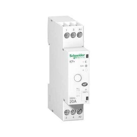 Contacteur silencieux iCT+ HC à commande manuelle 20 A - 1P - 230 V CA 50 Hz