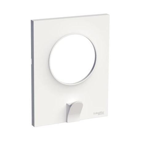 Plaque avec crochet multi-usage Odace Styl Pratic - 1 poste - Blanc