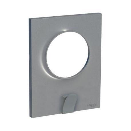 Plaque avec crochet multi-usage Odace Styl Pratic - 1 poste - Aluminium