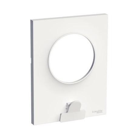 Plaque avec pince multi-usage Odace Styl Pratic - 1 poste - Blanc