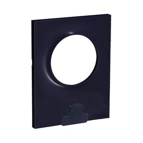 Plaque avec pince multi-usage Odace Styl Pratic - 1 poste - Anthracite
