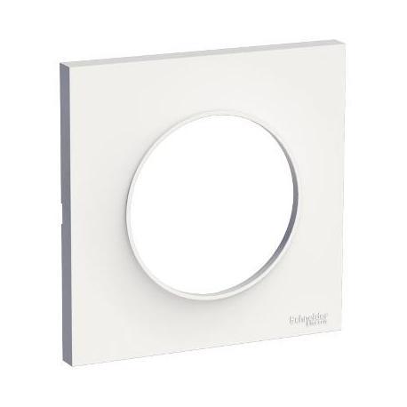 Plaque de finition Odace Styl - 1 poste - Blanc