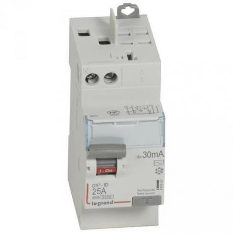 Interrupteur différentiel 25 A - Type AC - 1P+N - 30 mA - Vis/auto - DX³-ID