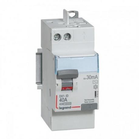 Interrupteur différentiel 40 A - Type AC - 1P+N - 30 mA - Vis/auto - DX³-ID