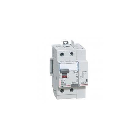 Interrupteur différentiel 63 A - Type AC - 1P+N - 30 mA - Vis/auto - 3 modules - DX³-ID