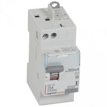 Interrupteur différentiel 25 A - Type AC - 1P+N - 300 mA - Vis/auto - DX³-ID