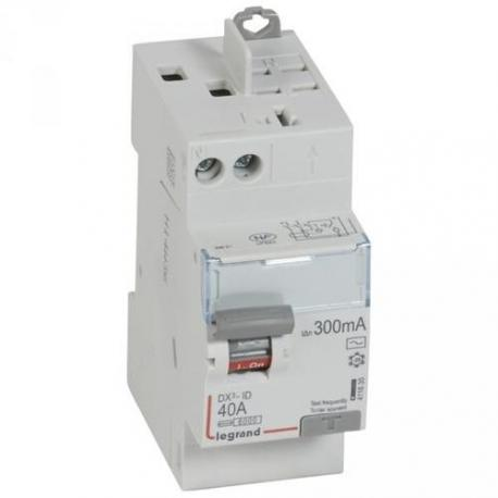 Interrupteur différentiel 40 A - Type AC - 1P+N - 300 mA - Vis/auto - DX³-ID