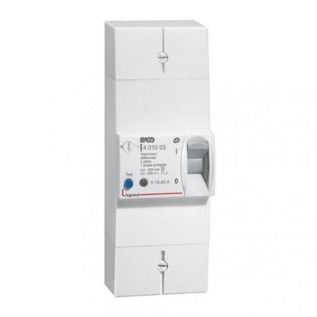 disjoncteur de branchement DB90 2P 15 à 45A  différentiel merlin gerin 13100