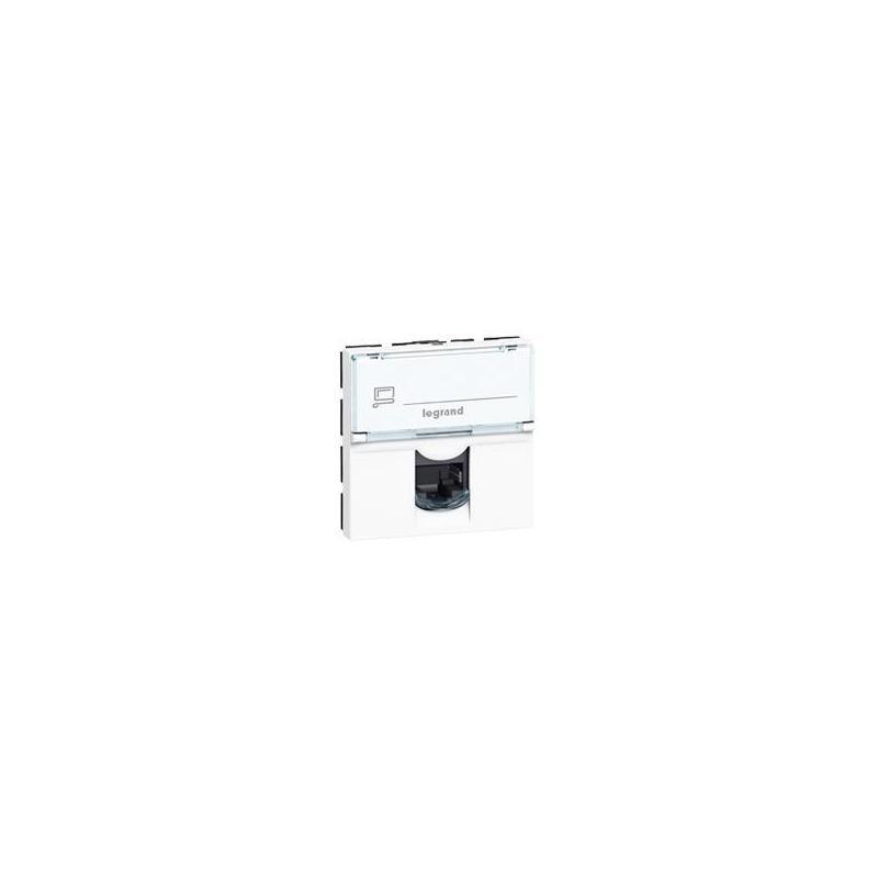 076576 prise rj45 mosaic cat 6a stp blanc. Black Bedroom Furniture Sets. Home Design Ideas