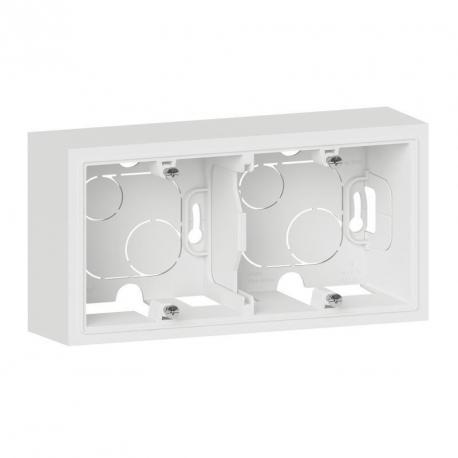 Cadre saillie Dooxie - 2 postes - Blanc