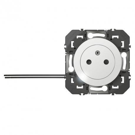 Prise de courant 2P+T Surface Dooxie - A voyant - Blanc