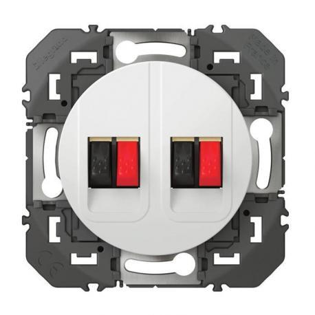 Prise haut-parleur double Dooxie - Blanc