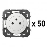 Lot de 50 - Prise de courant 2P+T Surface Dooxie - Blanc