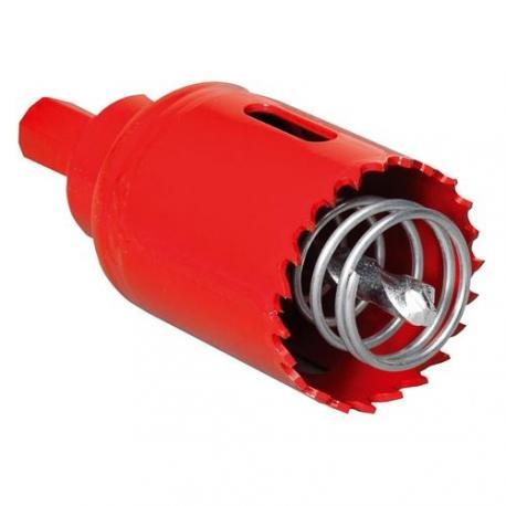 Scie cloche pour cloisons sèches - Diamètre 40 mm - Avec ressort