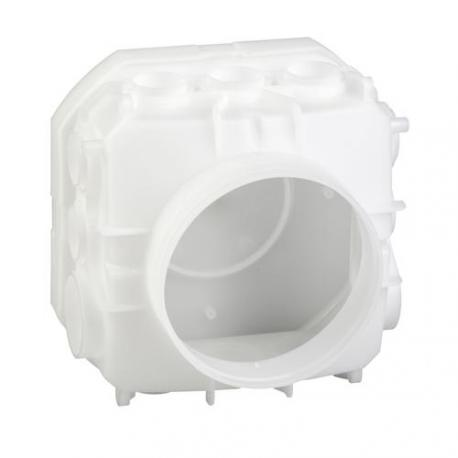 Préfal horizontal - Boîte de centre standard 140 x 140 mm hauteur 95 mm - À désoperculer