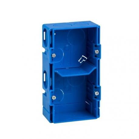 Lot de 10 - Boîte à sceller Modulo carrée - 2 postes - Entraxe 57 mm - Profondeur 40 mm
