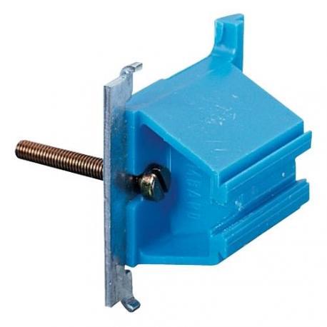 Lot de 50 - Patte pour fixation d'une boîte carrée sur huisserie métallique