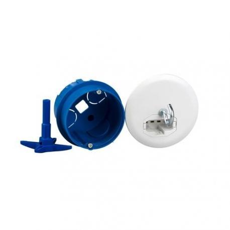 Boîte de centre avec couvercle non affleurant - Diamètre 67 mm + Connecteur + Douille