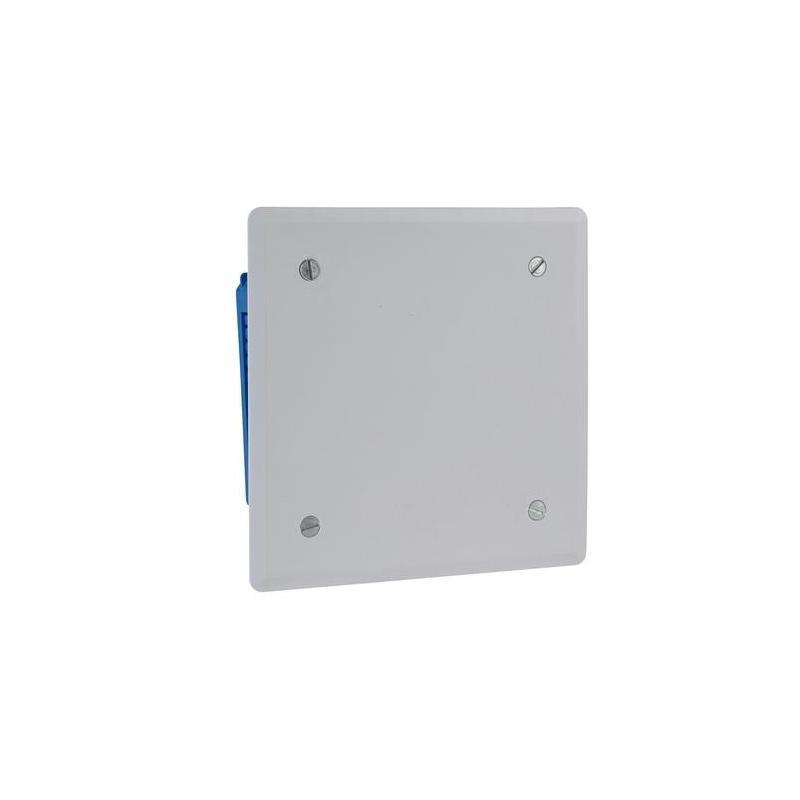 schneider electric enn09493 couvercle pour boite de d/érivation 144 x 144 blanc
