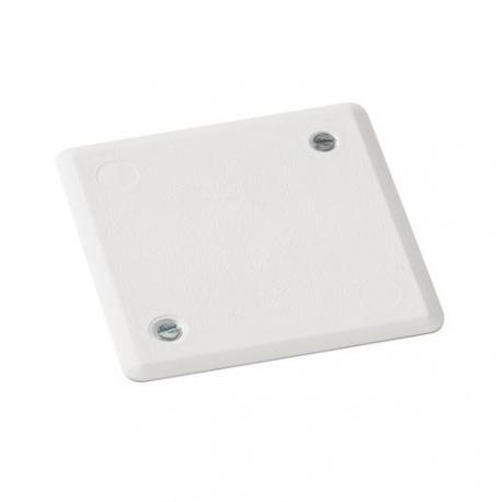 Couvercle blanc pour boîte de dérivation - 78 x 78 mm