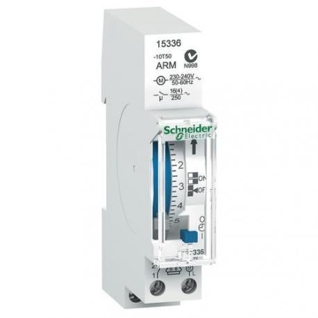Interrupteur horaire électromécanique IH - 1 canal 24h - Intervalle 15 min - Réserve de marche 100 h