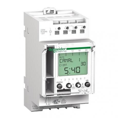 Interrupteur horaire digital programmable IHP - 2 canaux 24h / 7j