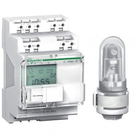 Interrupteur crépusculaire avec programmation horaire IC 100kp+ - 2 canaux