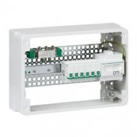 Coffret de communication prêt à l'emploi Grade 2 TV - 6 RJ45 - 18 mod 1 rangée - LexCom Home