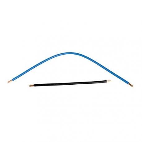 Câbles de connexion 6 mm² - Noir 180 mm / Bleu 330 mm