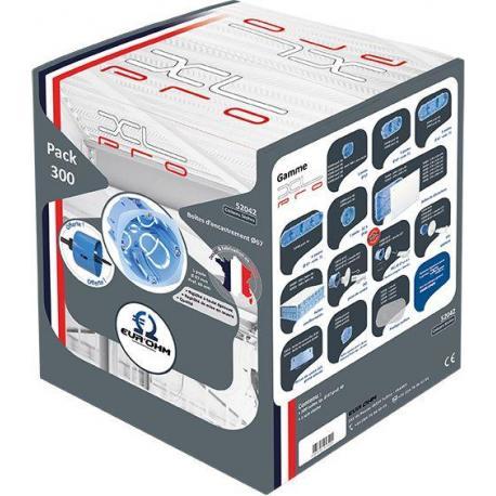 Lot de 300 boîtes d'encastrement cloisons sèches XL Pro - 1 poste - Prof. 40 mm - Diam. 67 mm
