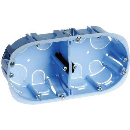 Boîte d'encastrement cloisons sèches XL Pro - 2 postes - Prof. 50 mm - Diam. 67 mm