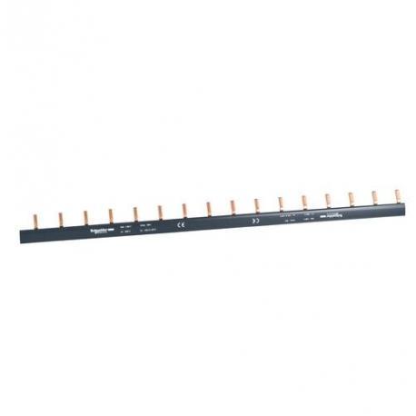 Peigne horizontal pour disjoncteurs C120 et NG125 - 1P - 16 voies - 125 A