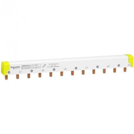 Peigne horizontal pour disjoncteurs iC60 - 3 x (N+P) - 6 voies - 100 A